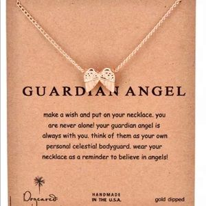 FOUR 4 GOLD DIPPED GUARDIAN ANGEL WING NECKLACES